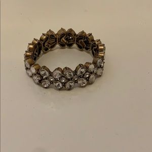J. crew crystal flower bracelet